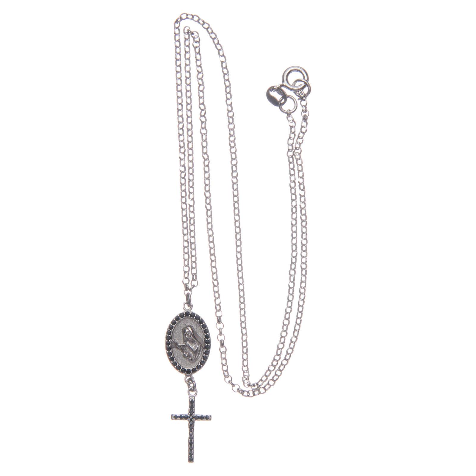 Naszyjnik srebro 925 czarny Święta Rita 4