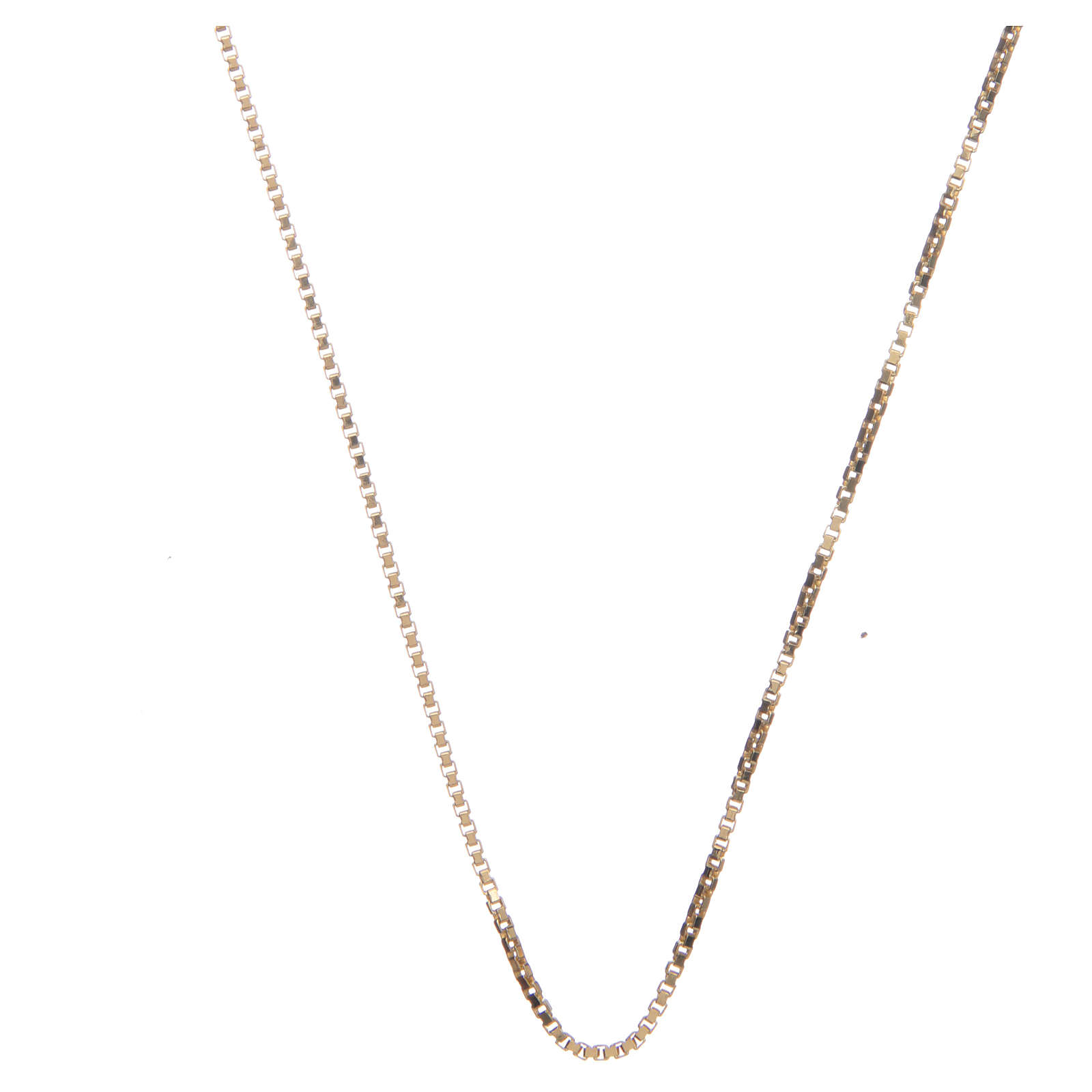 Chaîne vénitienne argent 925 doré longueur 60 cm 4