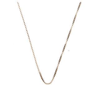 Chaîne vénitienne argent 925 doré longueur 60 cm s1
