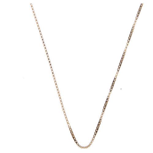 Chaîne vénitienne argent 925 doré longueur 60 cm 1