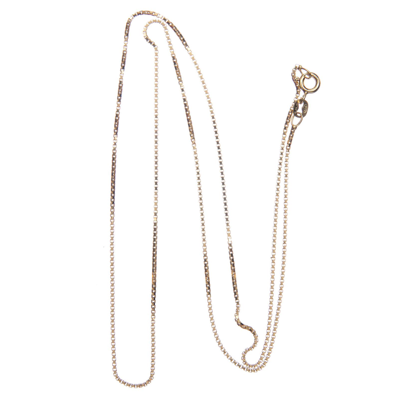 Łańcuszek wenecki srebro 925 pozłacany długość 60 cm 4