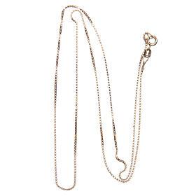 Łańcuszek wenecki srebro 925 pozłacany długość 60 cm s2