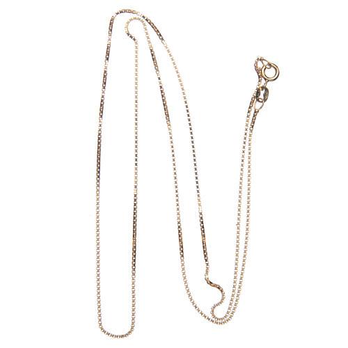 Łańcuszek wenecki srebro 925 pozłacany długość 60 cm 2