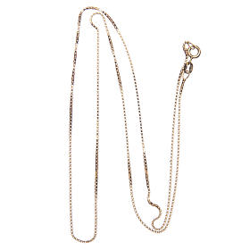 Venetian chain in 925 sterling silver finished in gold, 60 cm length s2
