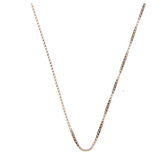 Venetian chain in 925 sterling silver finished in gold, 60 cm length 1