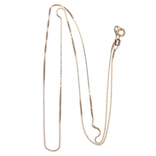 Venetian chain in 925 sterling silver finished in gold, 60 cm length 2