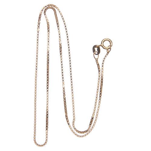 Łańcuszek wenecki srebro 925 pozłacany długość 40 cm 2