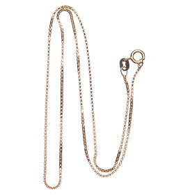 Venetian chain in 925 sterling silver finished in gold, 40 cm length s2