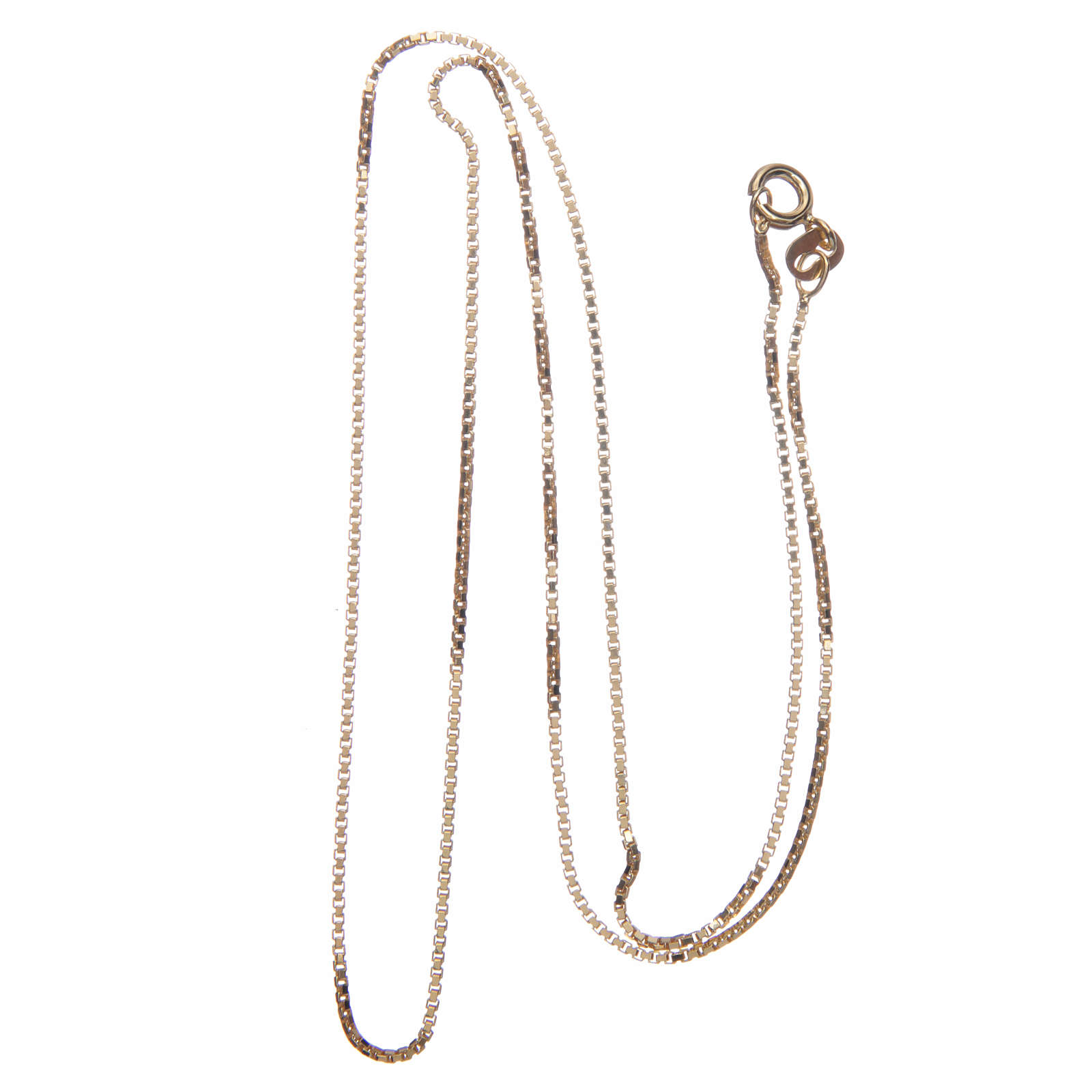 Venetian chain in 925 sterling silver finished in gold, 50 cm length 4
