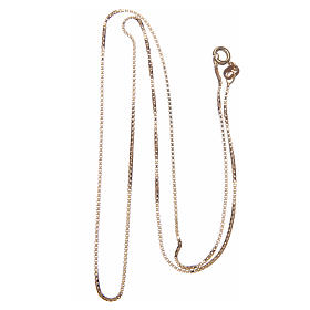 Venetian chain in 925 sterling silver finished in gold, 50 cm length s2