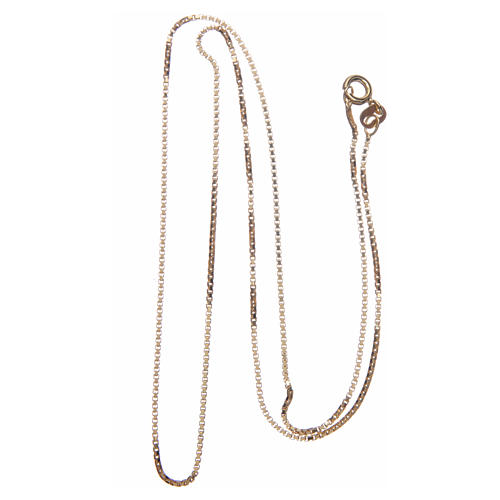 Venetian chain in 925 sterling silver finished in gold, 50 cm length 2