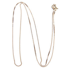 Venetian chain in 925 sterling silver finished in gold, 55 cm length s2