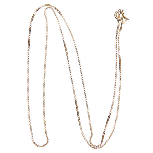 Venetian chain in 925 sterling silver finished in gold, 55 cm length 2