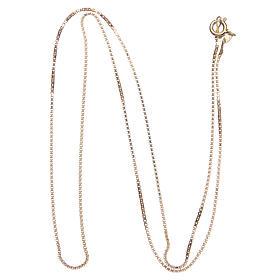 Łańcuszek wenecki srebro 925 pozłacany długość 55 cm s2