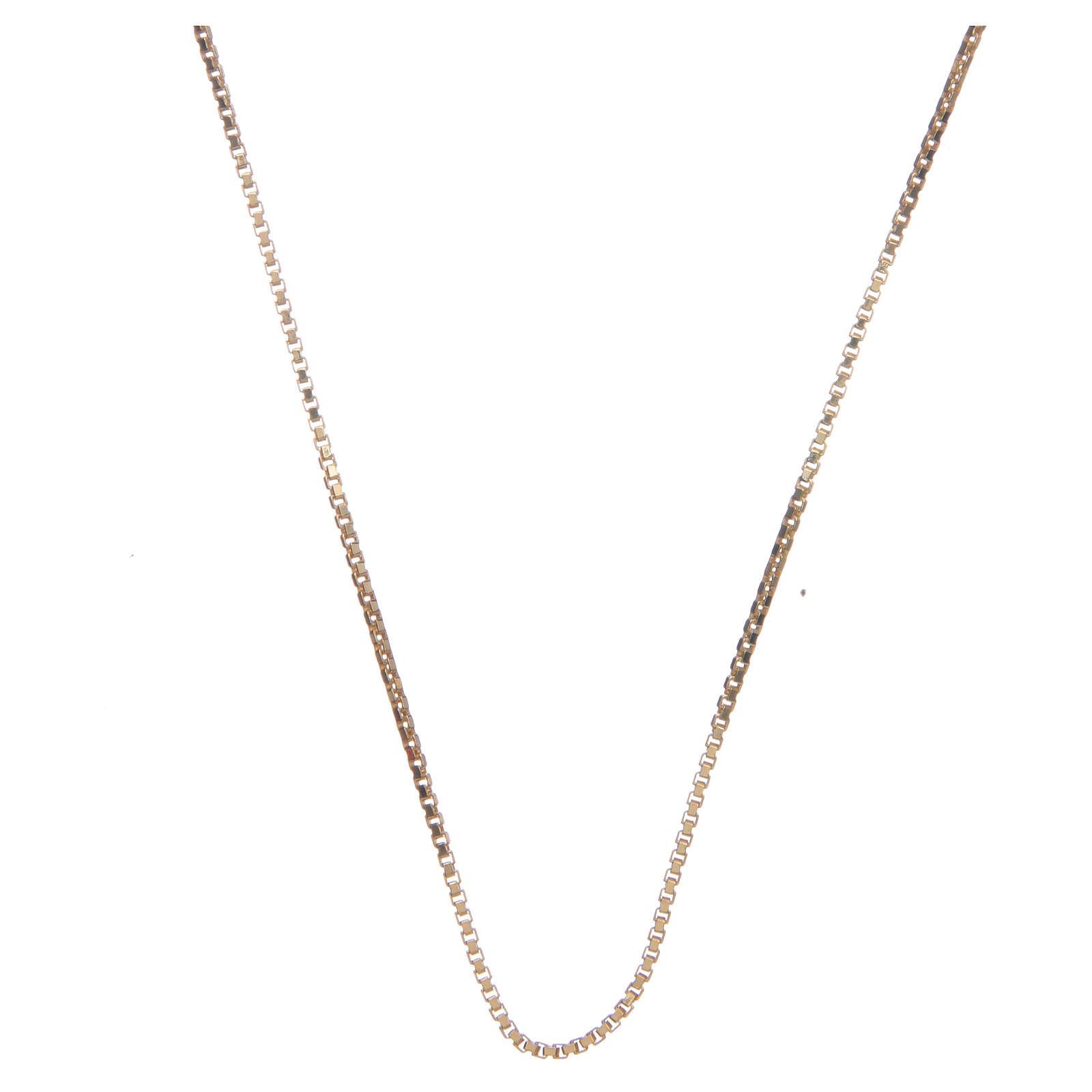 Corrente veneziana prata 925 dourada comprimento 55 cm 4
