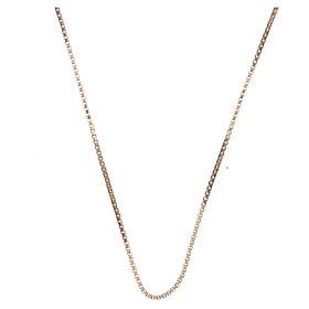 Corrente veneziana prata 925 dourada comprimento 55 cm s1