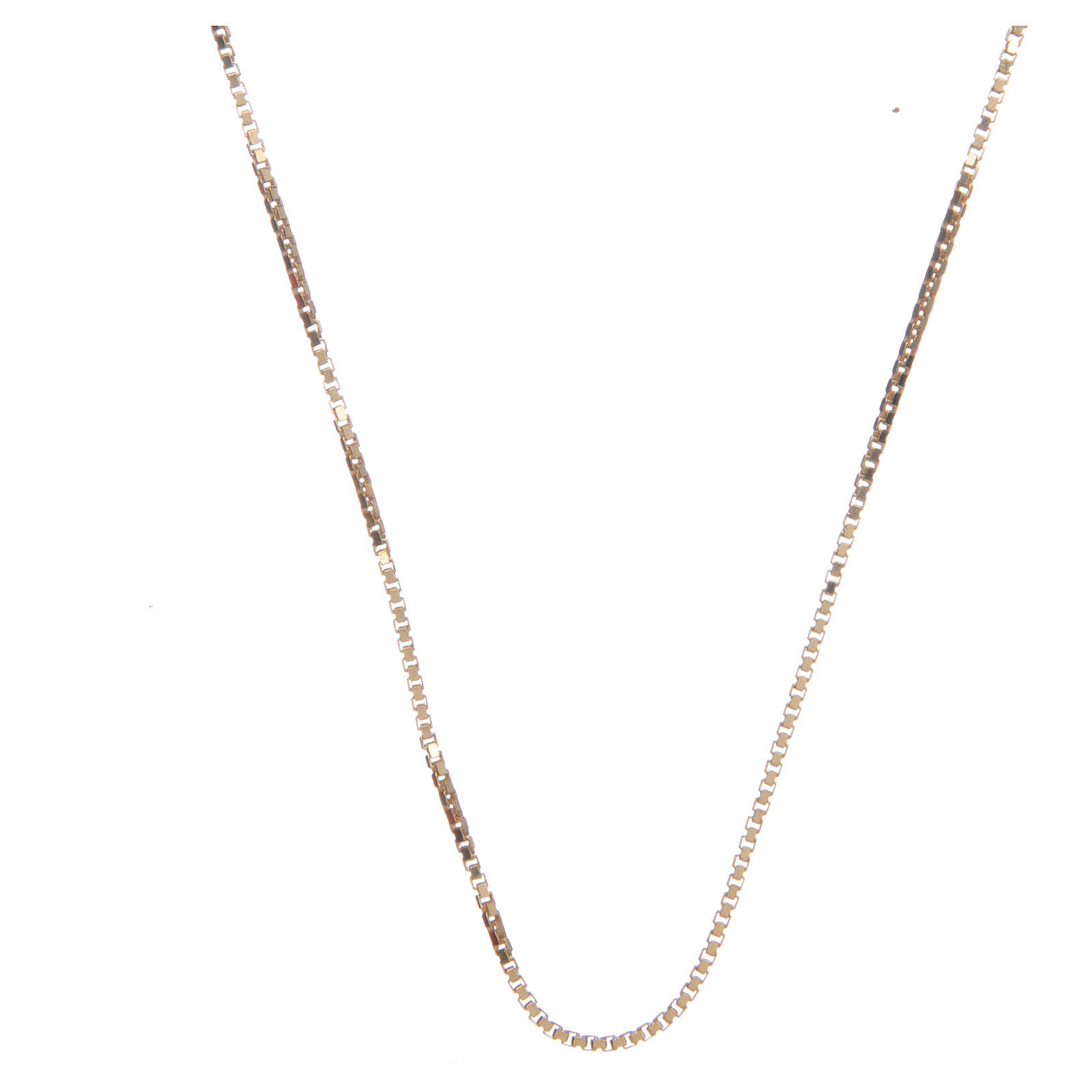 Venetian chain in 925 sterling silver finished in gold 65 cm 4