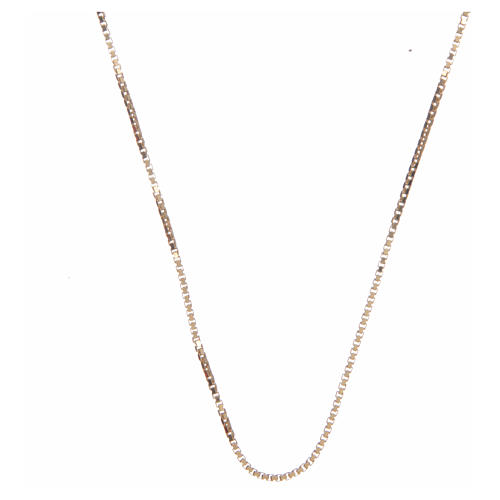 Venetian chain in 925 sterling silver finished in gold 65 cm 1