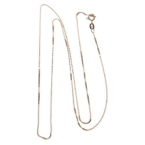 Venetian chain in 925 sterling silver finished in gold 65 cm 2