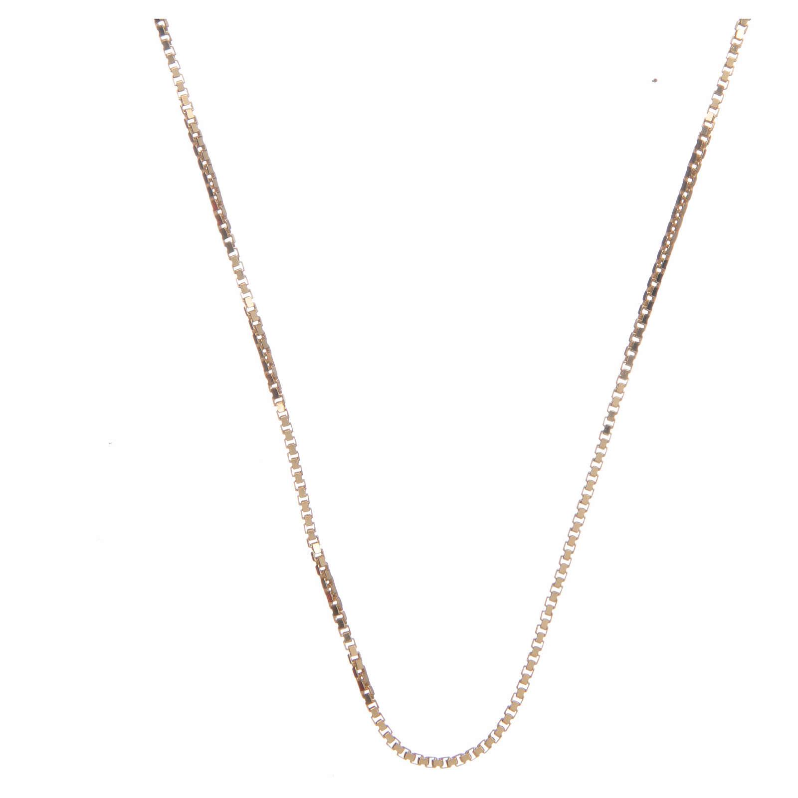 Cadena véneta plata 925 dorada 65 cm 4