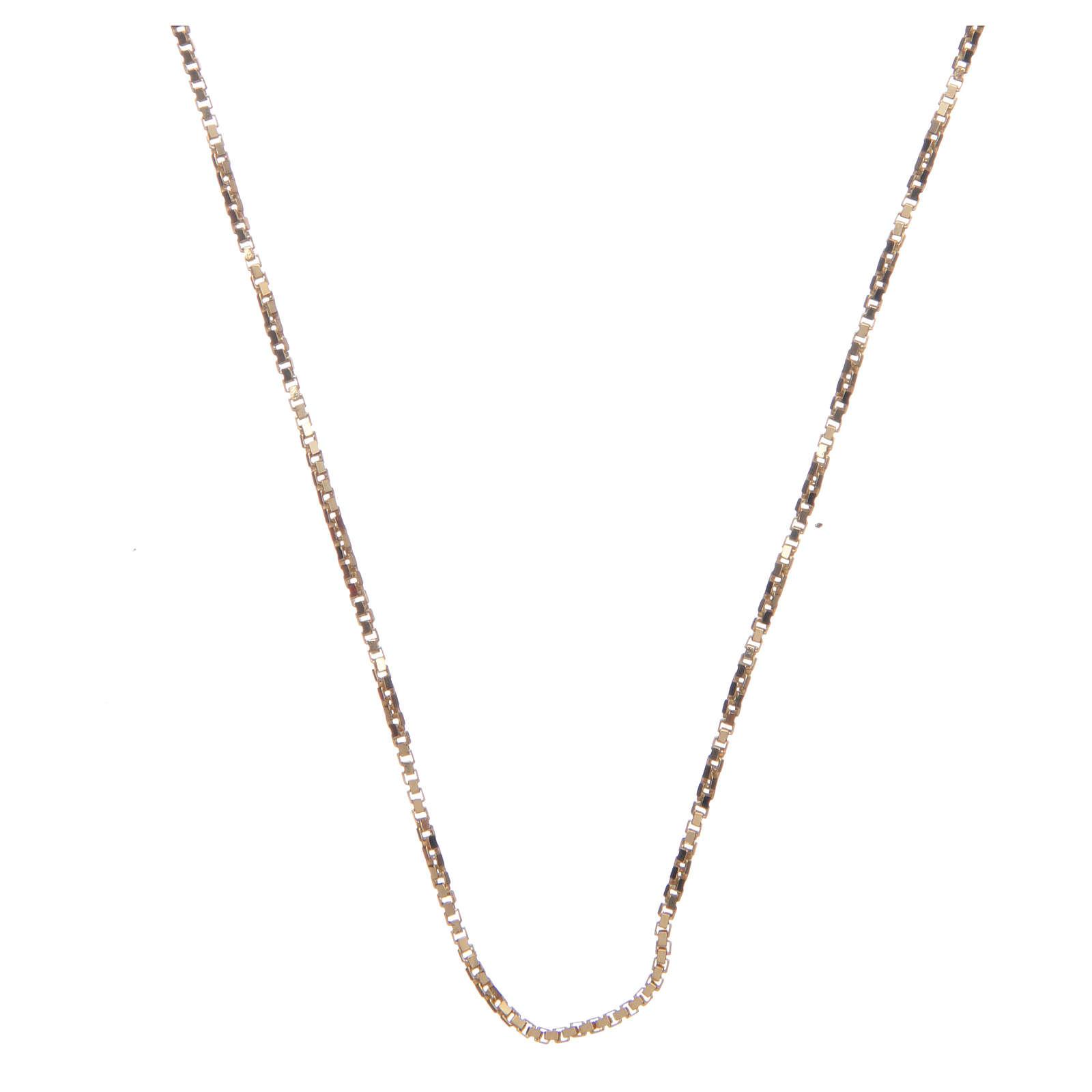 Catena veneta argento 925 dorato 70 cm 4