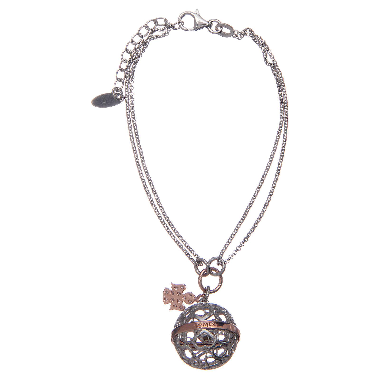 Angel caller ball AMEN bracelet pink silver 925 4