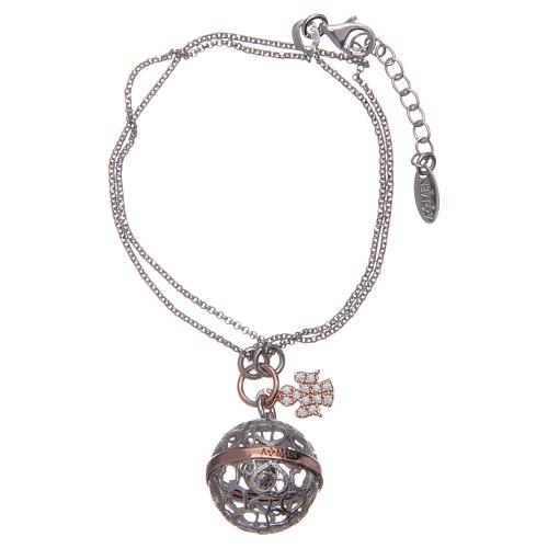 Angel caller ball AMEN bracelet pink silver 925 1