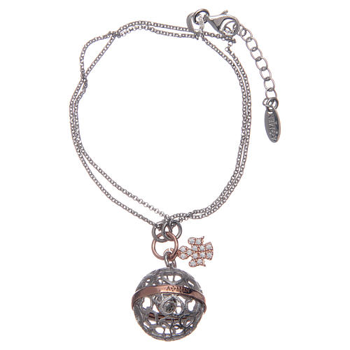 Angel caller ball AMEN bracelet pink silver 925 1