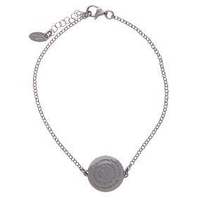 AMEN bracelets: Amen bracelet in 925 sterling silver with Angel of God prayer in Latin