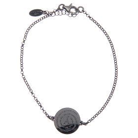 AMEN bracelets: Amen bracelet in burnished 925 sterling silver with Angel of God prayer in Latin