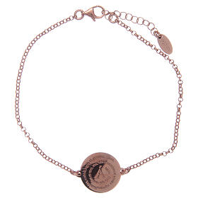 AMEN bracelets: Amen bracelet in 925 sterling silver finished in rosè with Angel of God prayer