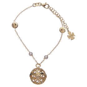 Bracelet Amen bola appeleur d'anges argent 925 doré s2