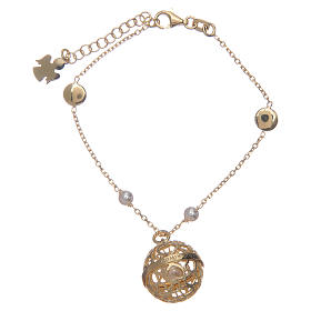 AMEN bracelets: Angel caller ball AMEN bracelet gold plated silver 925