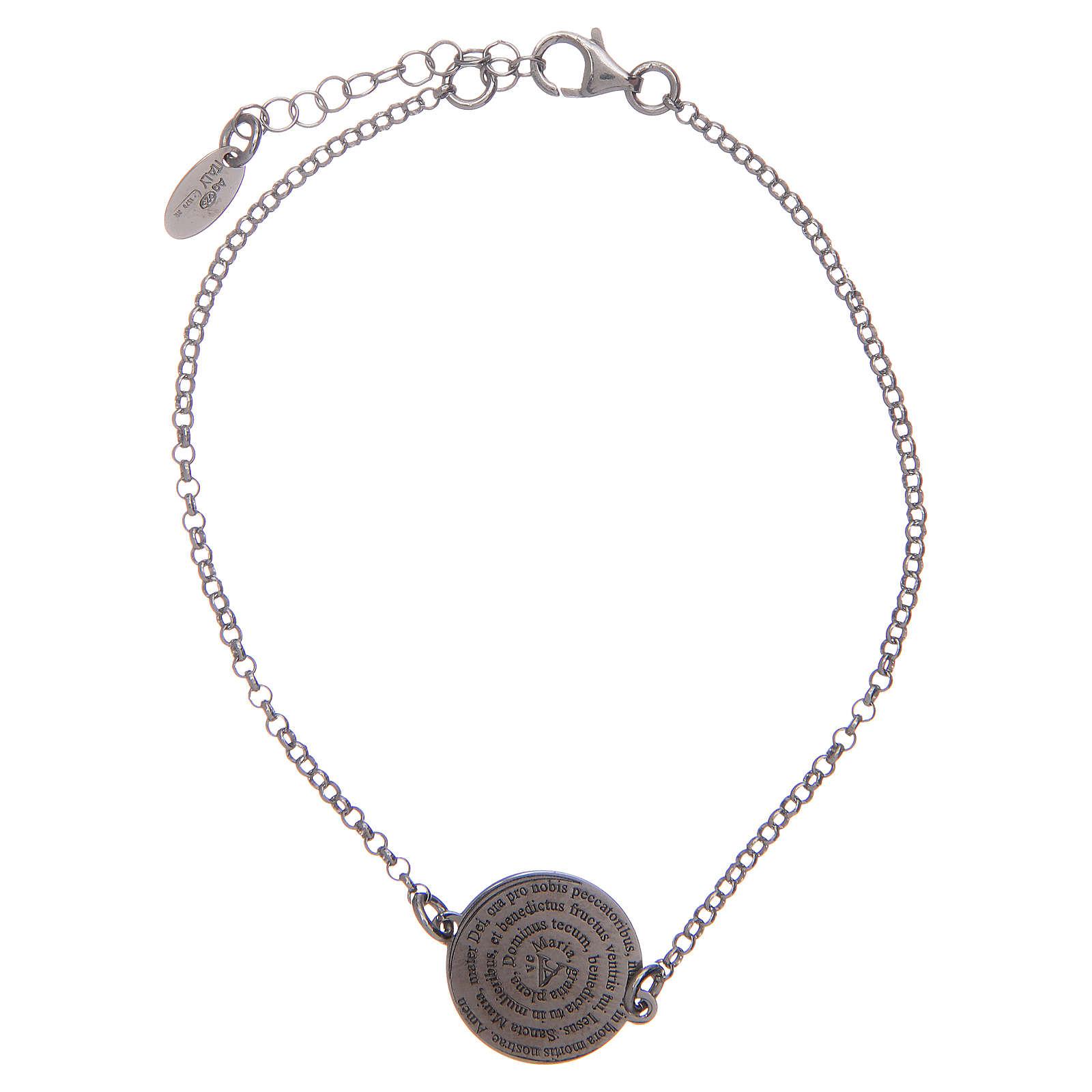 Bracelet Amen en argent 925 Ave Maria Latin 4