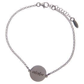 Bracelet Amen en argent 925 Ave Maria Latin s2