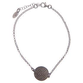 AMEN bracelets: Amen bracelet in 925 sterling silver with Hail Mary prayer in Latin