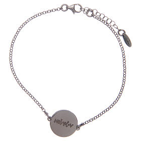 Amen bracelet in 925 sterling silver with Hail Mary prayer in Latin s2