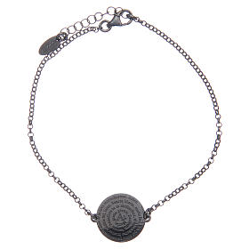 Armbänder AMEN: Amen-Armband aus getöntem Silber 925 Ave Maria Latein