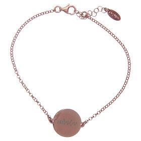 Amen-Armband aus rosigem Silber 925 mit Ave Maria Gebet auf Latein s2
