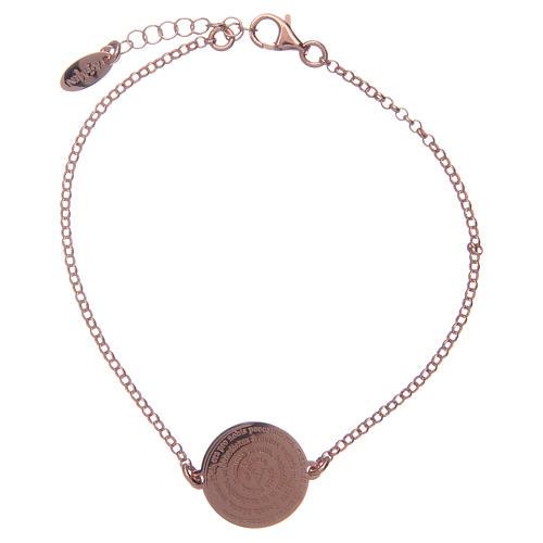 Amen-Armband aus rosigem Silber 925 mit Ave Maria Gebet auf Latein 1