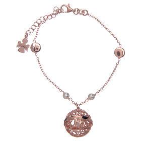 AMEN bracelets: Bola Angel caller AMEN bracelet pink silver 925