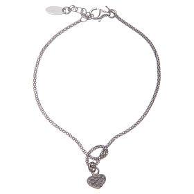 Amen-Armband aus Silber 925 Knoten mit Herzen s2