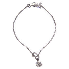 AMEN bracelets: Amen bracelet in 925 sterling silver with cross and knot