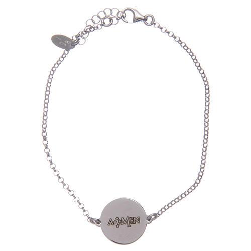 Amen-Armband Silber 925 lateinisch Vaterunser 2