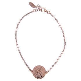 Bracelet Amen en argent 925 rosé Notre Père Latin s1