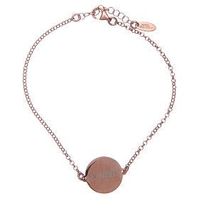 Bracelet Amen en argent 925 rosé Notre Père Latin s2