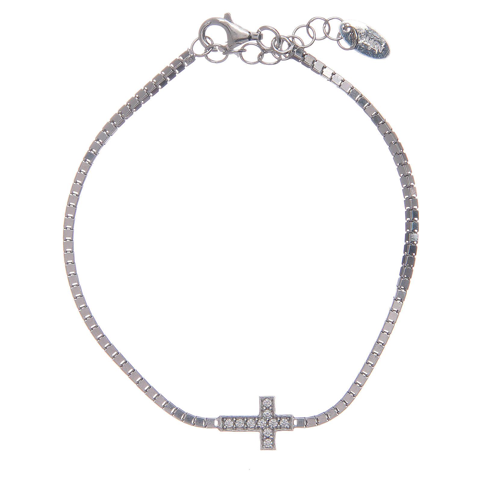 Bracciale Amen in Argento 925 croce zirconi 4