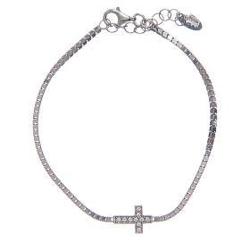 AMEN bracelets: Amen bracelet in 925 sterling silver with zirconate cross