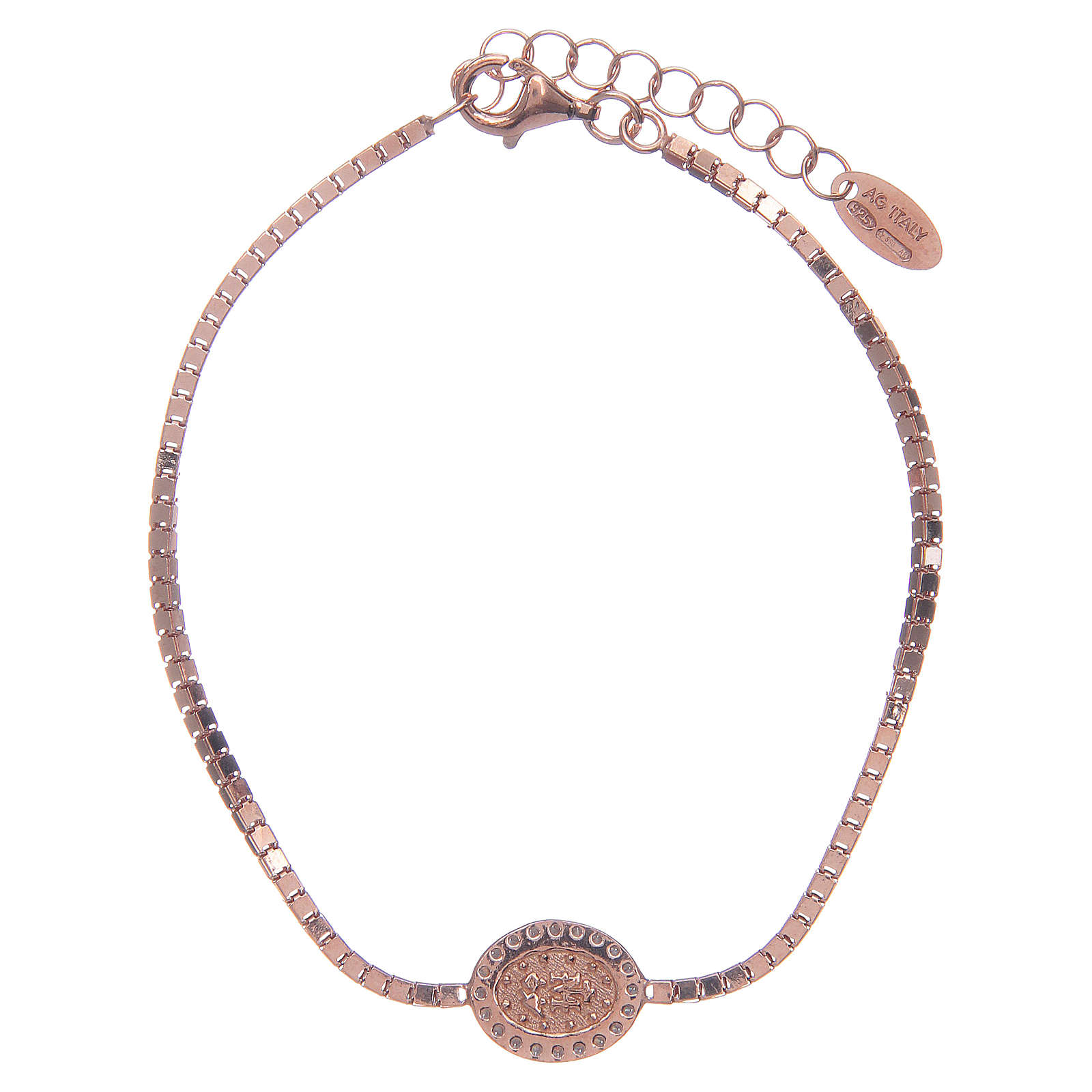 Bracciale Amen in Argento 925 Rosa Medaglia Miracolosa 4