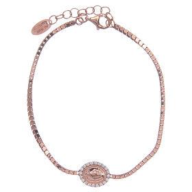 Bracciale Amen in Argento 925 Rosa Medaglia Miracolosa s1